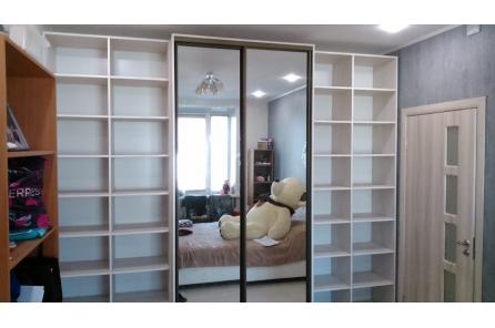 Шкаф купе с полками для книг