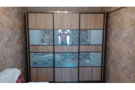 Шкаф купе с декоративным зеркалом Джанко белый