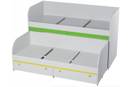 Кровать двухъярусная с ящикам КР-06 Детская Мамба
