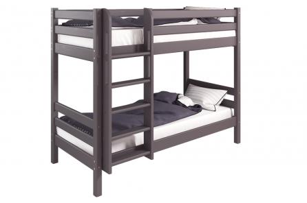 """Двухъярусная кровать """"Соня"""" Лаванда с прямой лестницей"""